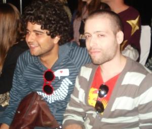 No Desfile de Mr.HERCHCOVITCH, Ed e Rogério Faria