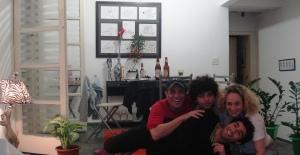Edson Coelho diretor, Rogerinho ator , Cece atriz e Diego ator, o encontro aqui em casa super gostoso com os Curitibanos, eu único paulista heheh