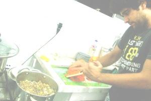 um dos prazeres, cozinhar para amigos!!